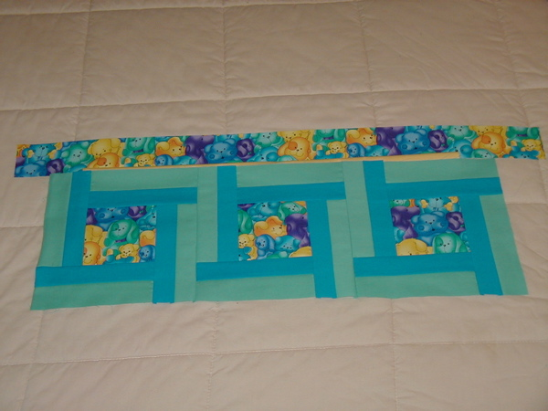 Kristof\'s quilt in progress