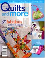 Cover of Quilts And More magazine