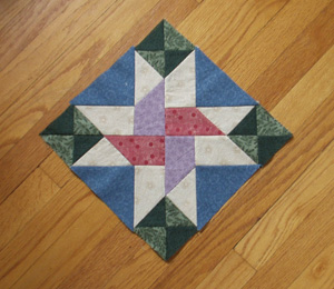 Mystery Quilt, first block