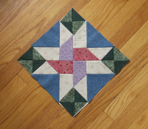 First block, as displayed in Quiltmaker