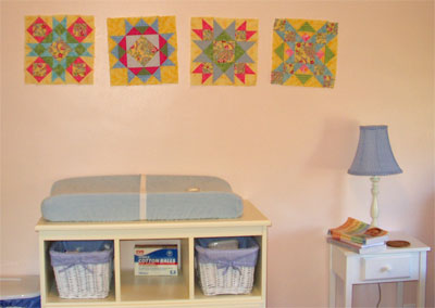 Blocks on the wall in the nursery