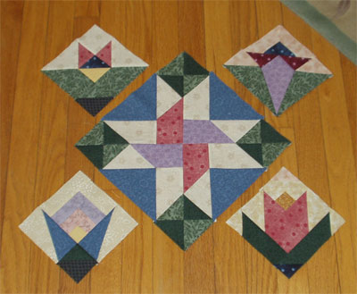 Mystery Quilt, part two, with first block