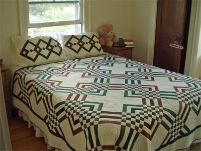Quilt on the bed